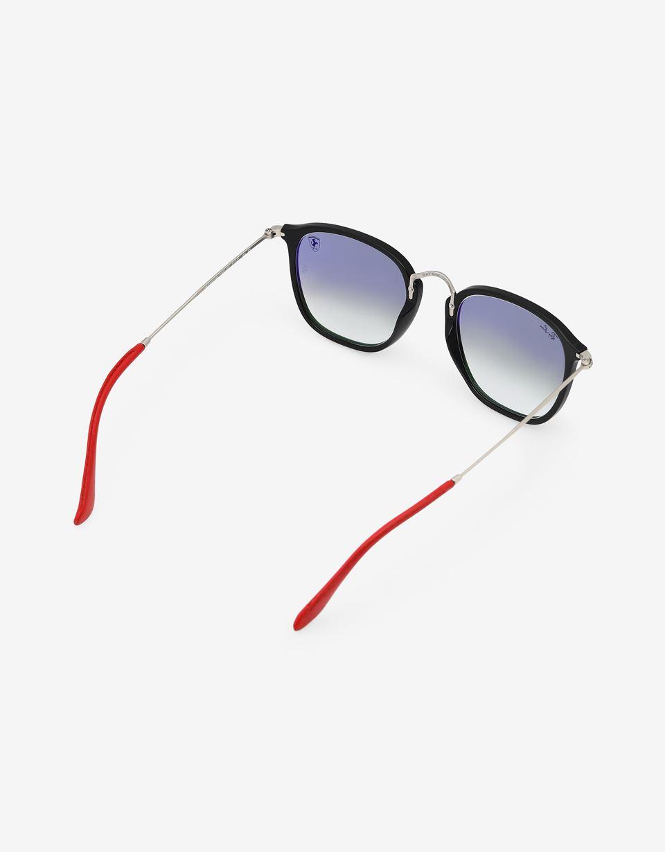 Scuderia Ferrari Online Store - Ray-Ban for Scuderia Ferrari Wayfarer Combo nero 0RB2448NM - Occhiali da Sole