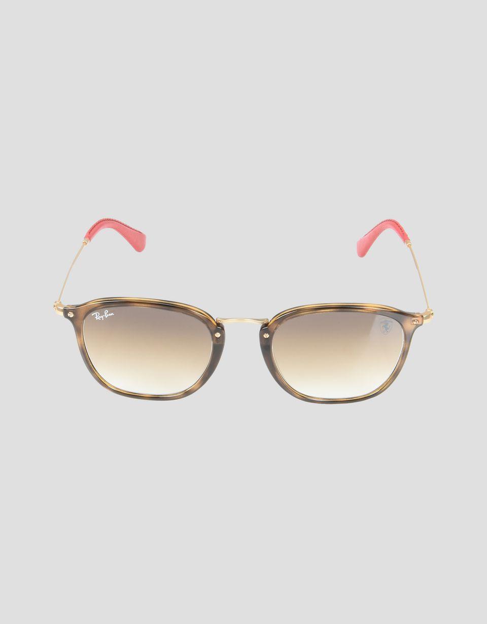 Scuderia Ferrari Online Store - Ray-Ban x Scuderia Ferrari Wayfarer Combo Tortoise 0RB2447NM - Sunglasses