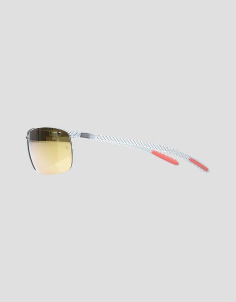 Scuderia Ferrari Online Store - Lunettes de soleil Ray-Ban for Scuderia Ferrari Full Bar en fibre de carbone couleur gris 0RB8305M - Lunettes de soleil