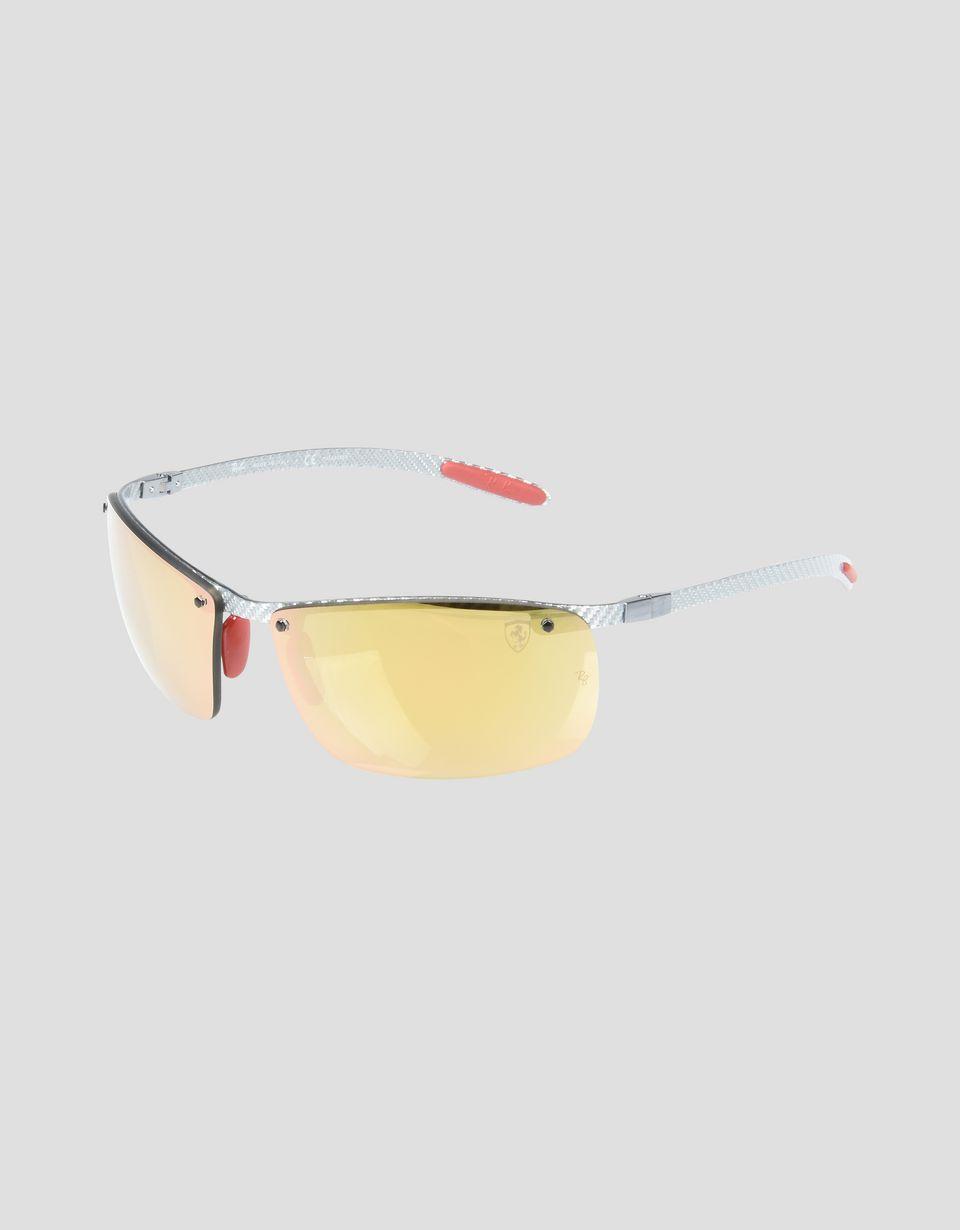 Scuderia Ferrari Online Store - Ray-Ban x Scuderia Ferrari Full Bar Carbon Fiber Gray 0RB8305M - Sunglasses
