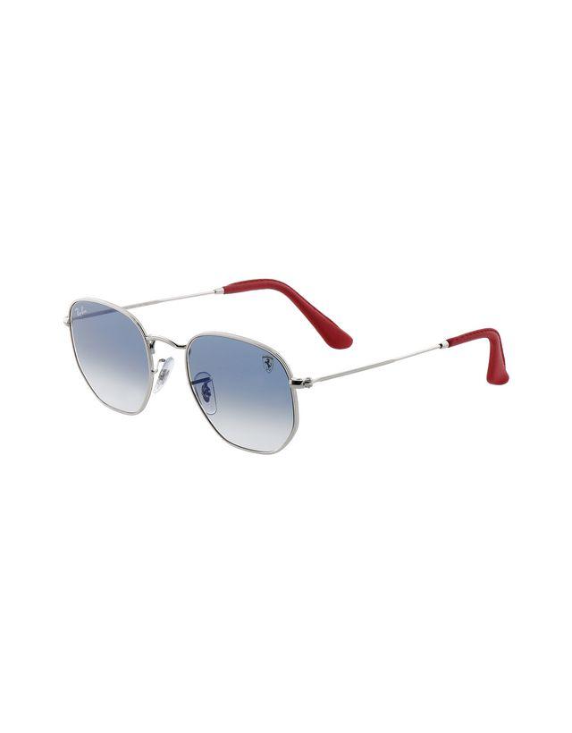 Scuderia Ferrari Online Store - Ray-Ban x Scuderia Ferrari Hexagonal Combo Silver 0RB3548NM - Sunglasses