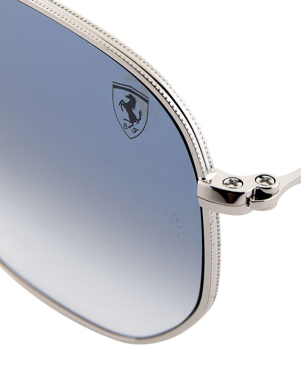 Scuderia Ferrari Online Store - Ray-Ban for Scuderia Ferrari Hexagonal argento 0RB3548NM - Occhiali da Sole