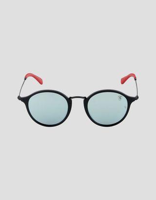 Scuderia Ferrari Online Store - Ray-Ban x Scuderia Ferrari Round Combo Matte Black 0RB2447NM - Sunglasses