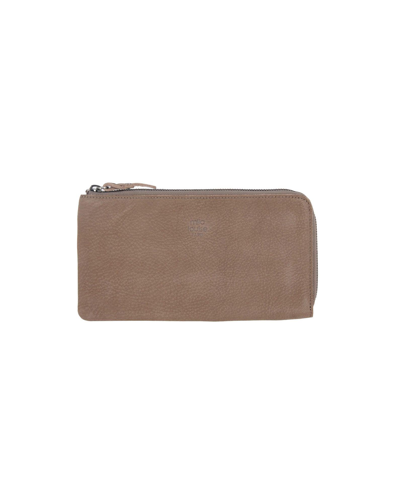 《送料無料》MILA LOUISE レディース 財布 カーキ 革