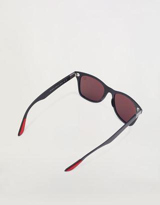 Scuderia Ferrari Online Store - Ray-Ban x Scuderia Ferrari Wayfarer Liteforce Matte Black 0RB4195M - Sunglasses