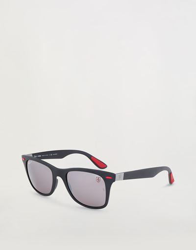 雷朋法拉利车队系列Wayfarer Lite Force徒步旅行者亚光黑色太阳眼镜0RB4195M