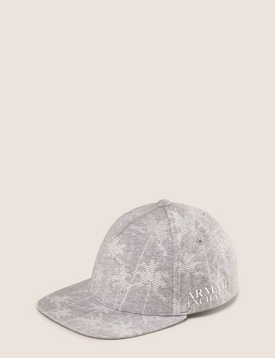 STRIPED PALMS PRINT HAT