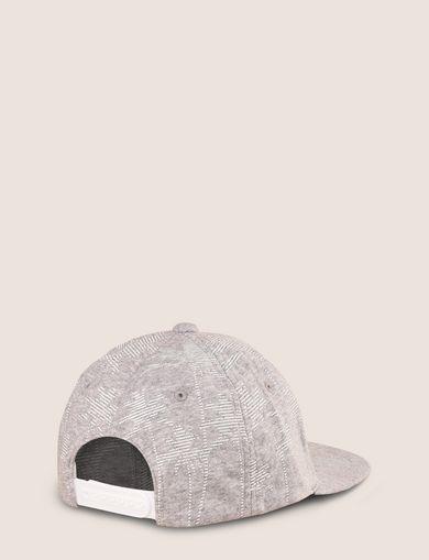 STRIPED PALMS PRINT HAT