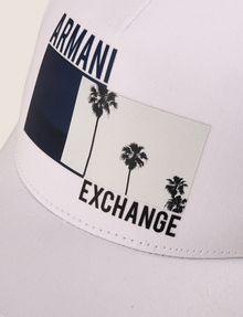 ARMANI EXCHANGE PALM PRINT LOGO HAT Hat Man d