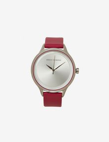 ARMANI EXCHANGE RASPBERRY LEATHER BAND WATCH Watch Woman f