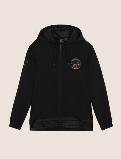 BULLDOG PATCH ZIP-UP HOODIE