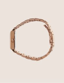 ARMANI EXCHANGE ROSE GOLD-TONED SQUARE BRACELET WATCH Watch Woman a
