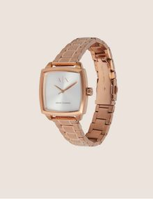ARMANI EXCHANGE ROSE GOLD-TONED SQUARE BRACELET WATCH Watch Woman d