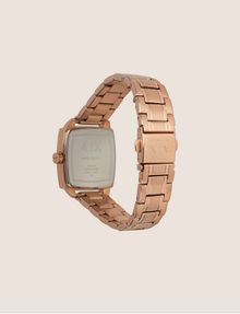 ARMANI EXCHANGE ROSE GOLD-TONED SQUARE BRACELET WATCH Watch Woman e