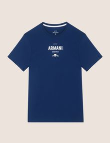 ARMANI EXCHANGE SUNSET AND WAVES LOGO TEE Logo T-shirt Man r