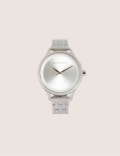SILVER-TONED THIN BRACELET WATCH
