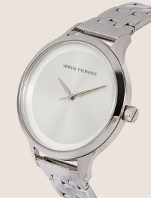 ARMANI EXCHANGE SILVER-TONED THIN BRACELET WATCH Watch Woman r