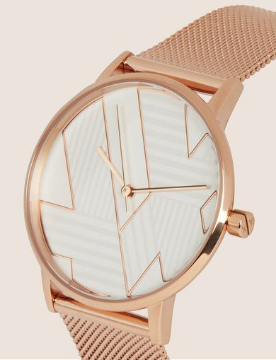 POP ART ROSE GOLD-TONE WATCH WITH MESH BAND