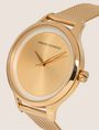 ARMANI EXCHANGE GOLD-TONED MESH BAND WATCH Watch Woman r