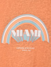 ARMANI EXCHANGE GIRLS MIAMI RAINBOW BURNOUT TEE Logo T-shirt Woman d