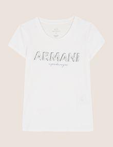 ARMANI EXCHANGE スパンコールロゴ Tシャツ ロゴTシャツ レディース r