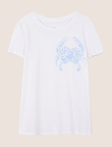 ARMANI EXCHANGE クラブプリント Tシャツ ロゴなしTシャツ レディース r