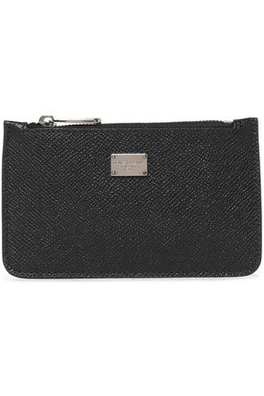 DOLCE & GABBANA Textured-leather coin purse