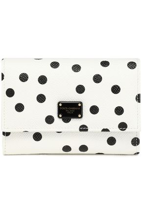 DOLCE & GABBANA Polka-dot textured-leather wallet