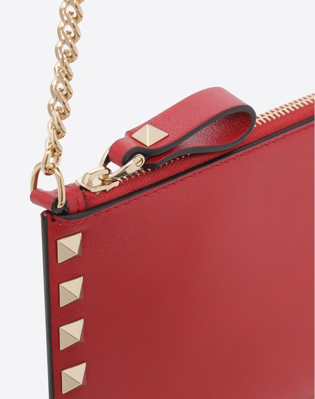 Rockstud Flat Pouch On Chain