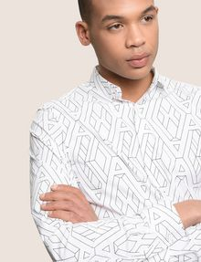 ARMANI EXCHANGE SLIM-FIT PRINTED STRETCH SHIRT Long sleeve shirt Man a