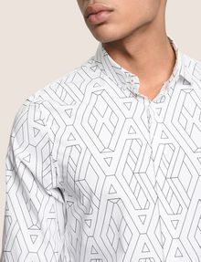 ARMANI EXCHANGE SLIM-FIT PRINTED STRETCH SHIRT Long sleeve shirt Man b