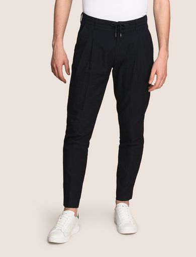 JACQUARD DRAWSTRING TAILORED JOGGER