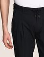 ARMANI EXCHANGE JACQUARD DRAWSTRING TAILORED JOGGER Fleece Trouser Man b
