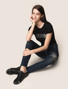 ARMANI EXCHANGE DESTROYED KNEE LIFT-UP SUPER-SKINNY JEAN Skinny jeans Woman a