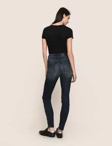 ARMANI EXCHANGE DESTROYED KNEE LIFT-UP SUPER-SKINNY JEAN Skinny jeans Woman e