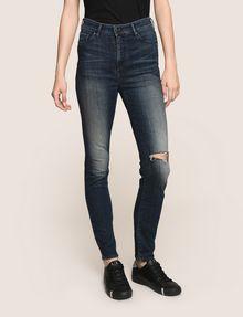 ARMANI EXCHANGE DESTROYED KNEE LIFT-UP SUPER-SKINNY JEAN Skinny jeans Woman f