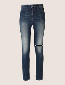 ARMANI EXCHANGE DESTROYED KNEE LIFT-UP SUPER-SKINNY JEAN Skinny jeans Woman r