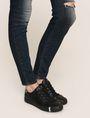 ARMANI EXCHANGE DESTROYED KNEE LIFT-UP SUPER-SKINNY JEAN Skinny jeans Woman b