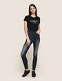 ARMANI EXCHANGE DESTROYED KNEE LIFT-UP SUPER-SKINNY JEAN Skinny jeans Woman d
