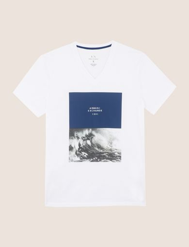 BOXED WAVES LOGO V-NECK