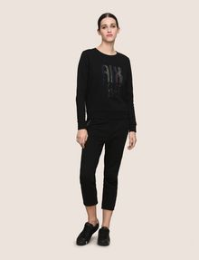 ARMANI EXCHANGE A|X INVADERS SEQUIN SWEATSHIRT TOP Fleece Top Woman d