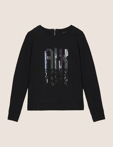 ARMANI EXCHANGE A|X INVADERS SEQUIN SWEATSHIRT TOP Fleece Top Woman r