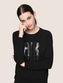 ARMANI EXCHANGE A|X INVADERS SEQUIN SWEATSHIRT TOP Fleece Top Woman a