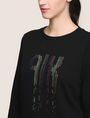 ARMANI EXCHANGE A|X INVADERS SEQUIN SWEATSHIRT TOP Fleece Top Woman b