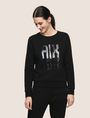 ARMANI EXCHANGE A|X INVADERS SEQUIN SWEATSHIRT TOP Fleece Top Woman f