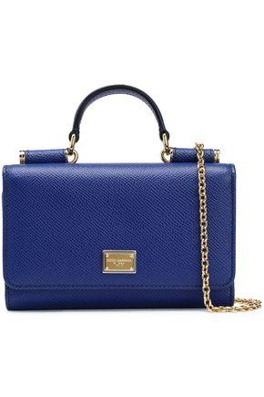 DOLCE & GABBANA Von textured-leather shoulder bag