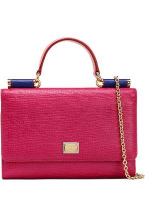 DOLCE & GABBANA Von color-block textured-leather shoulder bag