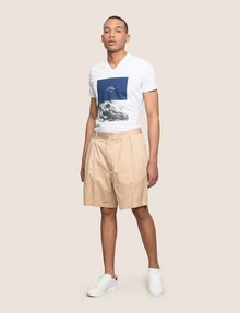 ARMANI EXCHANGE RELAXED-FIT PLEAT-FRONT SHORT Short Man d