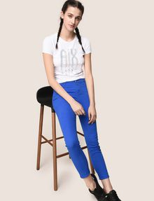 ARMANI EXCHANGE COLORFUL CROPPED SUPER-SKINNY JEANS Skinny jeans Woman a
