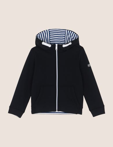 BOYS STRIPE-LINED ZIP-UP HOODIE